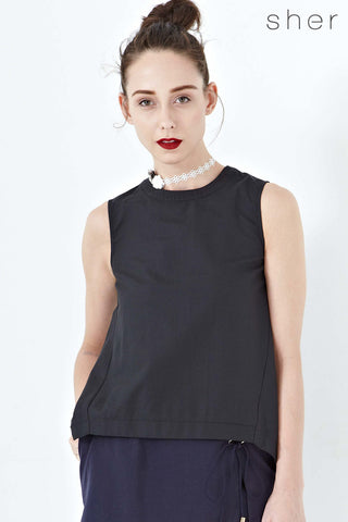 Twenty3 - Piper Shift Top in Black -  - Tops - 1