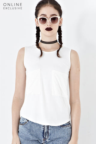 Twenty3 - Danton Tank Top in Off-White -  - Top - 1