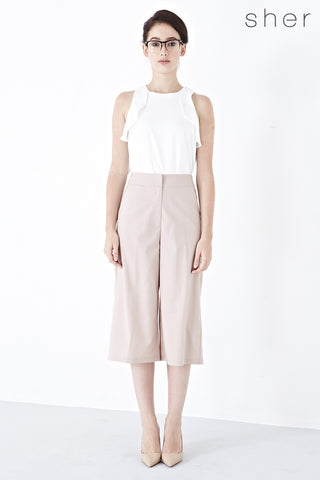Twenty3 - Xandria Culottes in Beige -  - Bottoms - 1