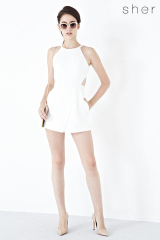 Twenty3 - Lina Cut Out Playsuit in White -  - Romper - 1