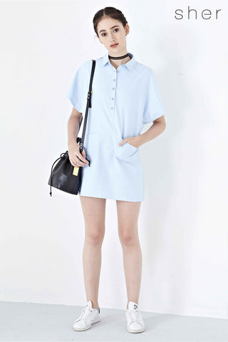 Twenty3 - Jeanette Shirt Dress in Light Blue -  - Dresses - 1