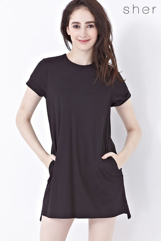 Twenty3 - Cora Shift Dress in Black -  - Dresses - 1