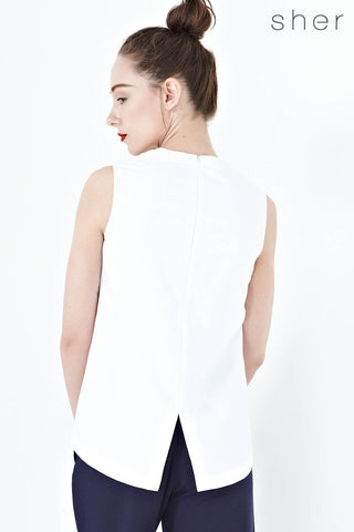 Twenty3 - Piper Shift Top in White -  - Tops - 1