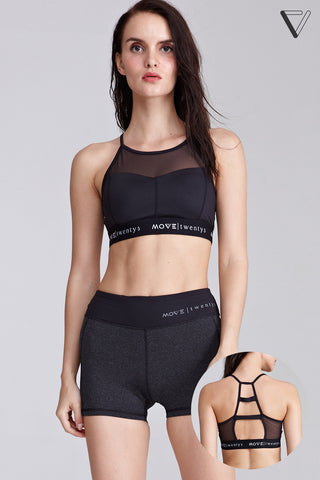 Audita Ladder Back Sports Bra in Black