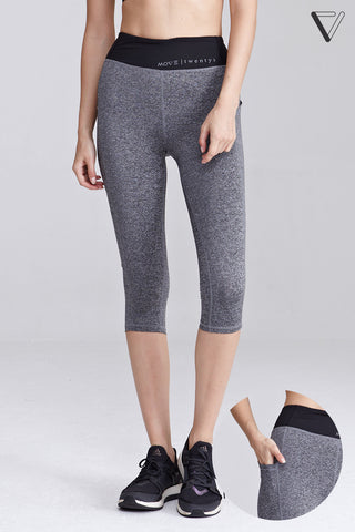 Ganet Capri Leggings in Grey