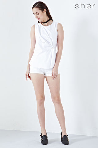 Twenty3 - Xaviera Twist Detail Playsuit in White -  - Romper - 1