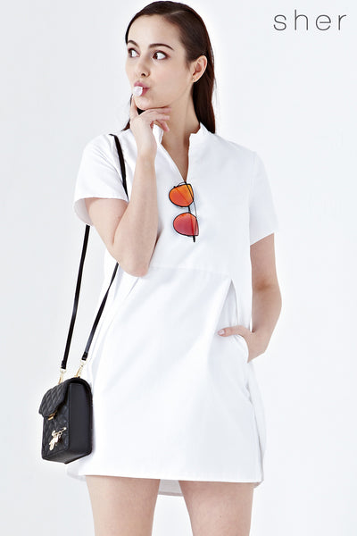 Twenty3 - Lexi Shift Dress in White -  - Dresses - 1