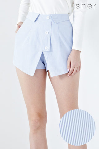 Demi Shirt Inspired Skorts in Pinstripes - Bottoms - Twenty3