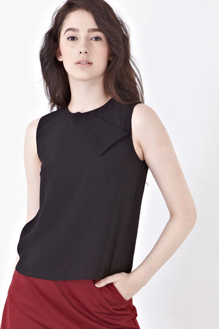 Twenty3 - Tove Sleeveless Top in Black -  - Top - 1