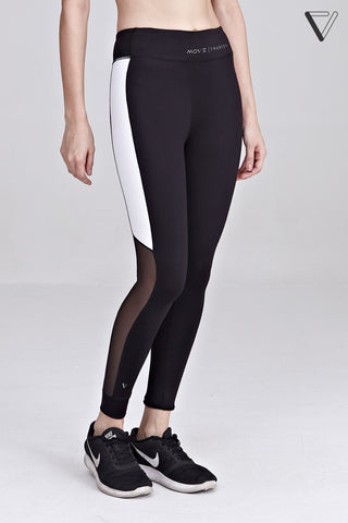 Alaia Contrast Panel Leggings in Black