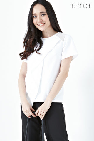 Roksanda Short Sleeves Top in White - Tops - Twenty3