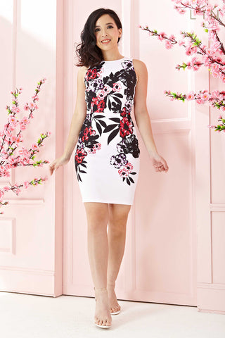 Twenty3 - Alessia Bodycon Dress in Graphic Floral Prints -  - Dresses - 1