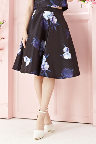 Twenty3 - [LIMITED EDITION] Clementina Circle Prom Skirt in Floral Prints -  - Bottoms - 1