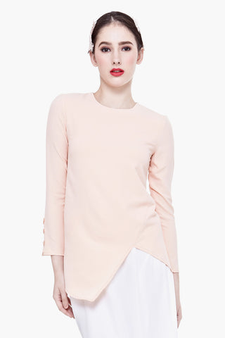 Fanchon Long-sleeved Top in Pinkish Nude