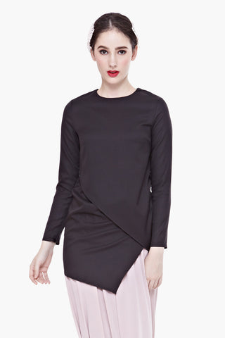 Jacques Long-sleeved Top in Black
