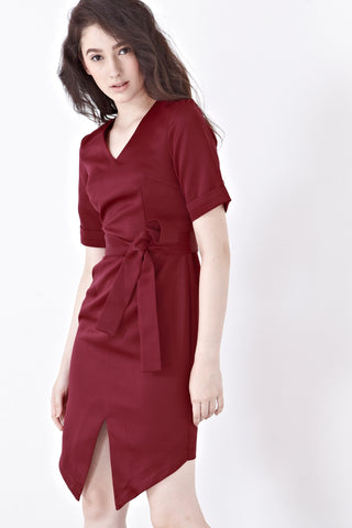 Twenty3 - Ivy Sheath Dress in Burgundy -  - Dresses - 1