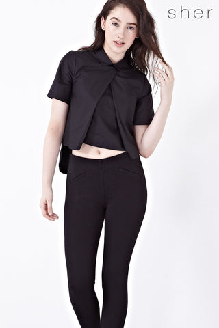 Twenty3 - Laura Top in Black -  - Top - 1