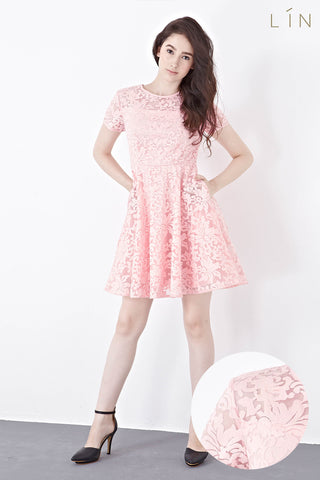 Twenty3 - Jenette Skater Dress in Pink -  - Dresses - 1