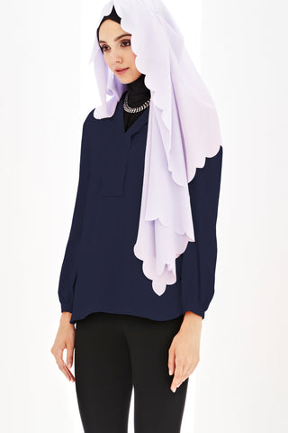 Beatrice Top in Navy Blue