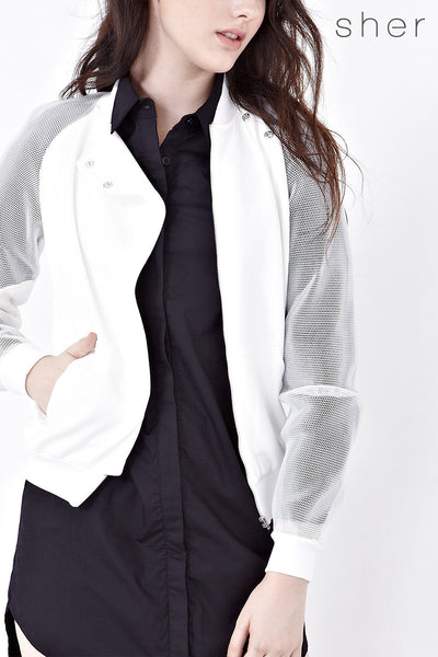 Twenty3 - Algrenon Jacket in White -  - Outerwear - 1