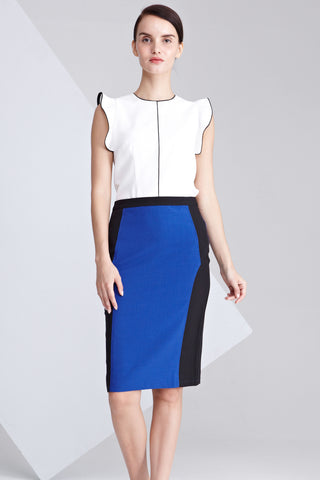 Angelika Colour Block Pencil Skirt