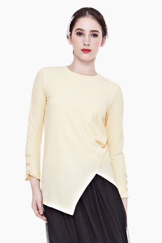 Fanchon Long-sleeved Top in Apricot - Tops - Twenty3