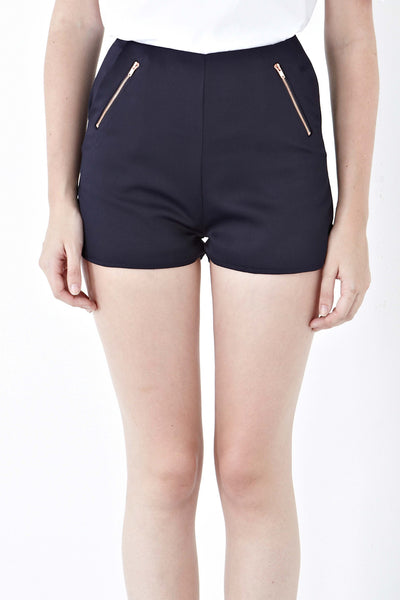 Larue Shorts in Navy Blue - Bottoms - Twenty3