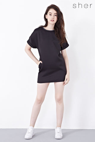Oluf Shift Dress in Black - Dresses - Twenty3