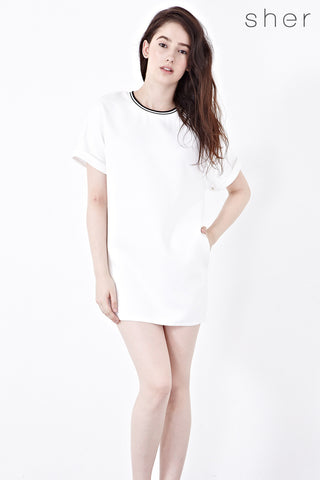 Oluf Shift Dress in Off-white - Dresses - Twenty3