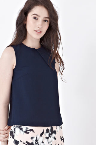 Twenty3 - Tove Sleeveless Top in Navy Blue -  - Top - 1
