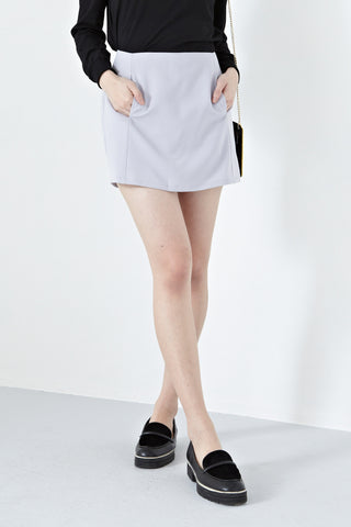 Pearle High Waist Skorts in Lilac