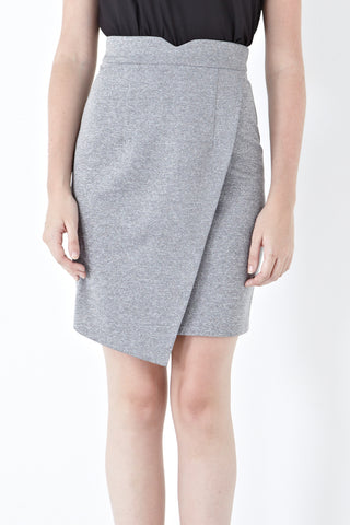 Twenty3 - Carsen Asymmetrical Skirt in Light Grey -  - Bottoms - 1