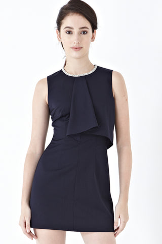 Twenty3 - Xandra Ruffle Detail Sheath Dress in Navy Blue -  - Dresses - 1