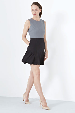 Twenty3 - Gretchen Side Flare Panels Skater Dress in Grey -  - Dresses - 1