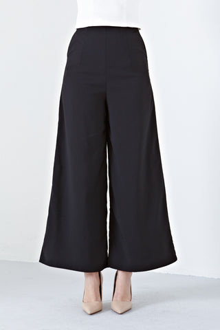 Ameera High Waist Culottes in Black