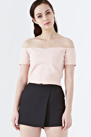 Twenty3 - Aleah Off Shoulder Top in Dusty Pink -  - Tops - 1