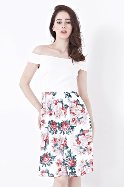 Twenty3 - Joanna Off-Shoulder Dress in Acel Prints -  - Dresses - 1