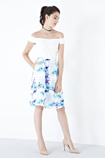 Twenty3 - Joanna Off-Shoulder Dress in Quincey Prints -  - Dresses - 1