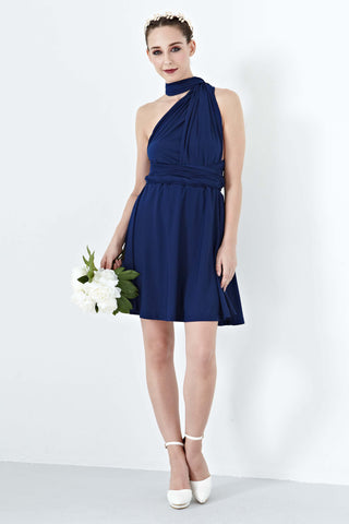 Twenty3 - Marilyn Convertible Bridesmaids Dinner Dress Version III in Navy Blue -  - Bridesmaids - 1