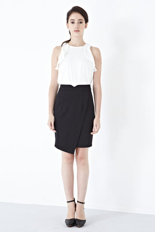 Twenty3 - Carsen Asymmetrical Skirt in Black -  - Bottoms - 1