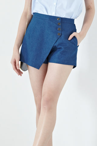 Twenty3 - Allegra Skorts in Light Denim -  - Bottoms - 1