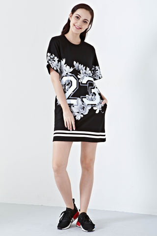 Twenty3 - Alena T-Shirt Dress in Black -  - Dresses - 1