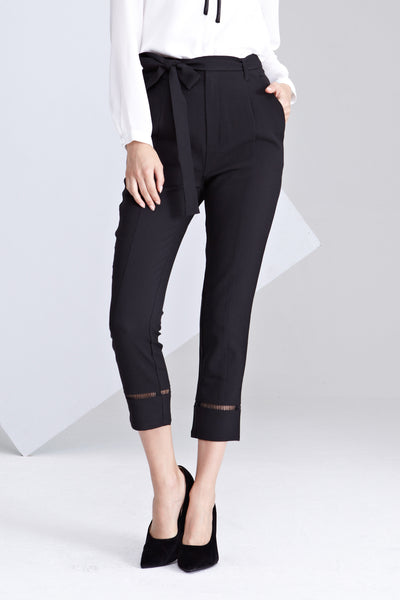 Tuni Tapered Long Pants in Black
