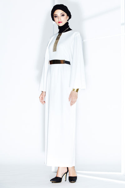 Fulvia Dress in Off-white - Dresses - Twenty3