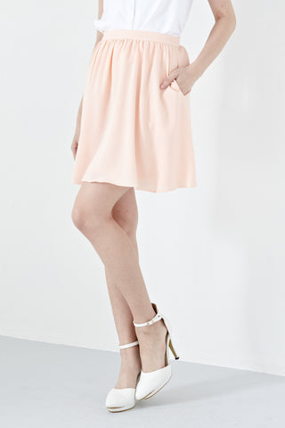 Twenty3 - Aceline Skirt in Peach -  - Bottoms - 1