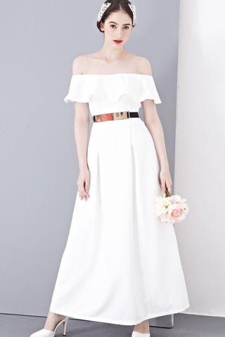 Twenty3 - Lena Off-Shoulder Bridal Gown in White -  - Maxi Dress - 1