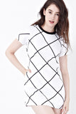Twenty3 - Harman Graphic Shift Dress in White -  - Dresses - 1