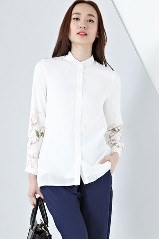 Wanada Long Sleeve Top in Placement Floral Prints