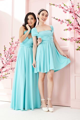 Twenty3 - Marilyn Convertible Bridesmaids Dinner Dress Version III in Tiffany Blue (Long) -  - Bridesmaids - 1
