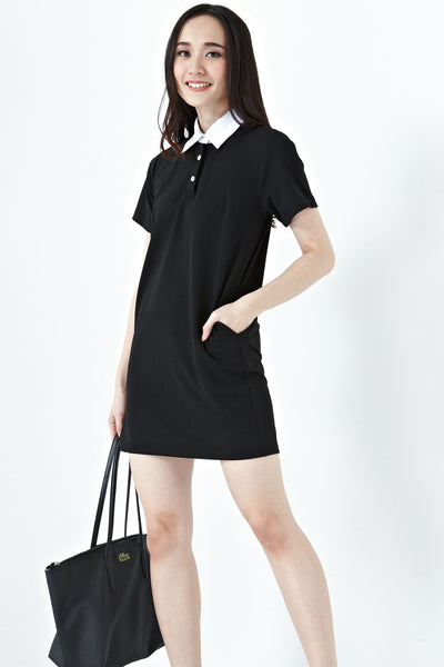 Ferrona Collar Shift Dress in Black - Dresses - Twenty3